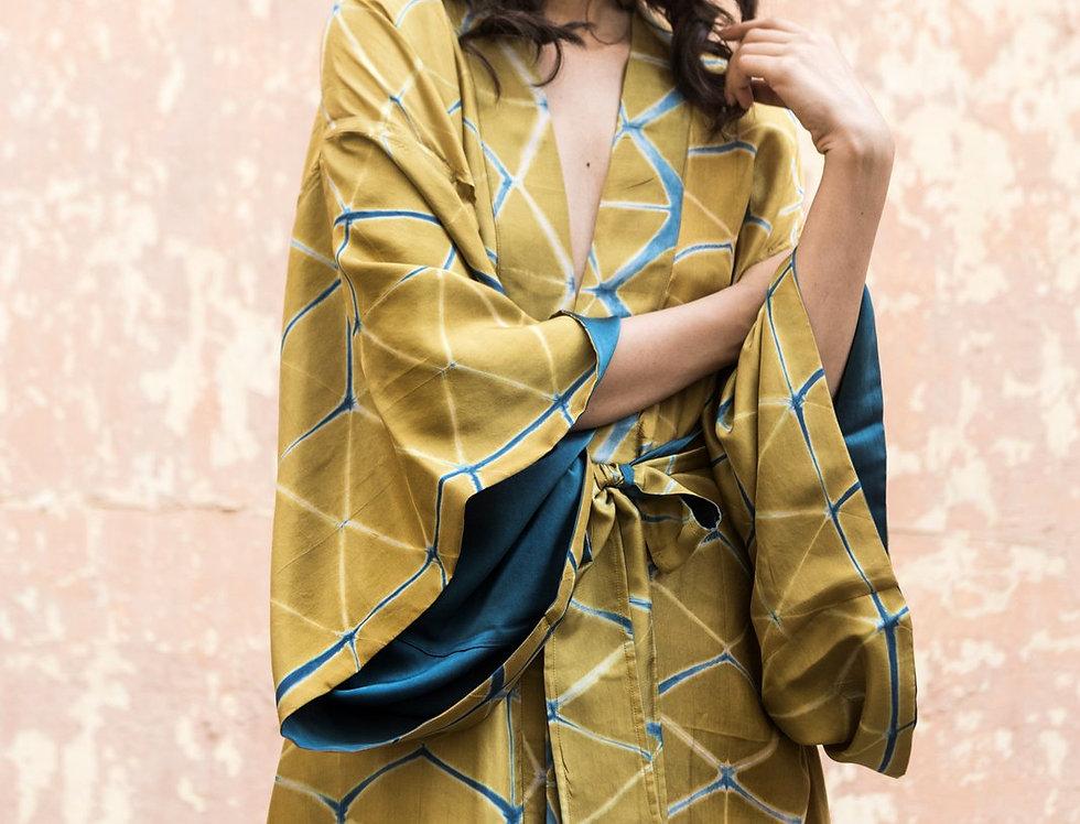 Itajime Silk Kimono | gaddur