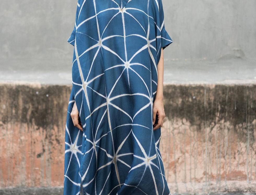 Itajime Silk Box Dress   mjoll
