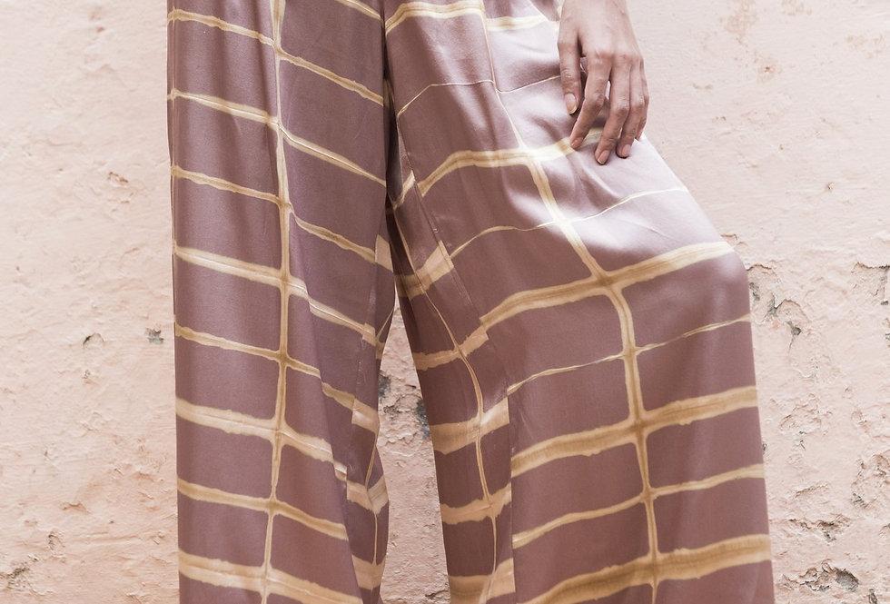 Itajime Silk Arielle Pants | misty lilac