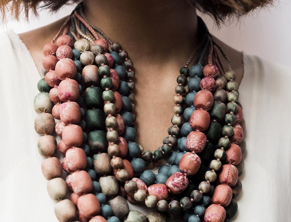 Iris Necklace   moss & blush
