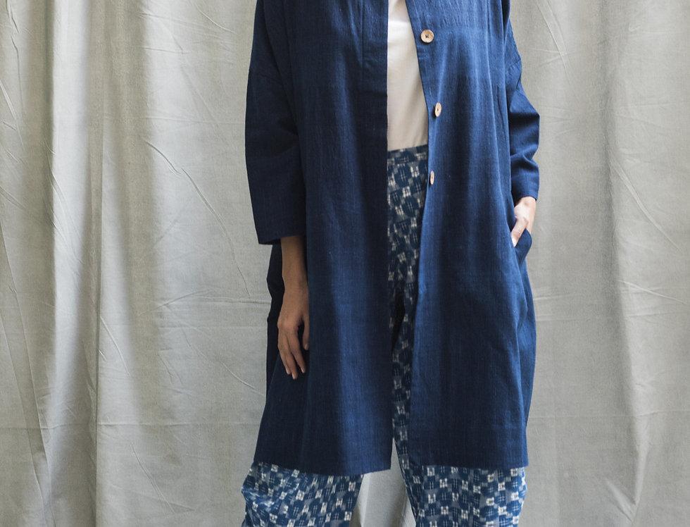 Cocoon Coat | organic indigo