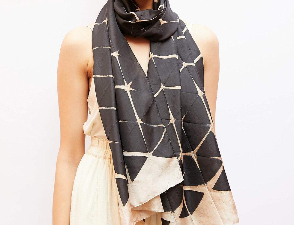 Itajime Silk Scarf | origami