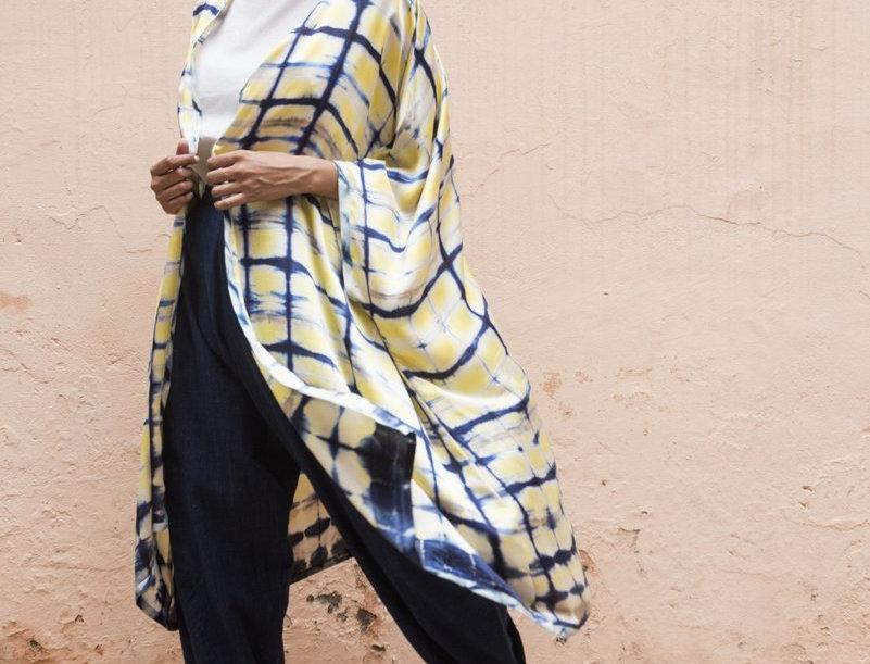 Itajime Silk Coverup   jaisalmer