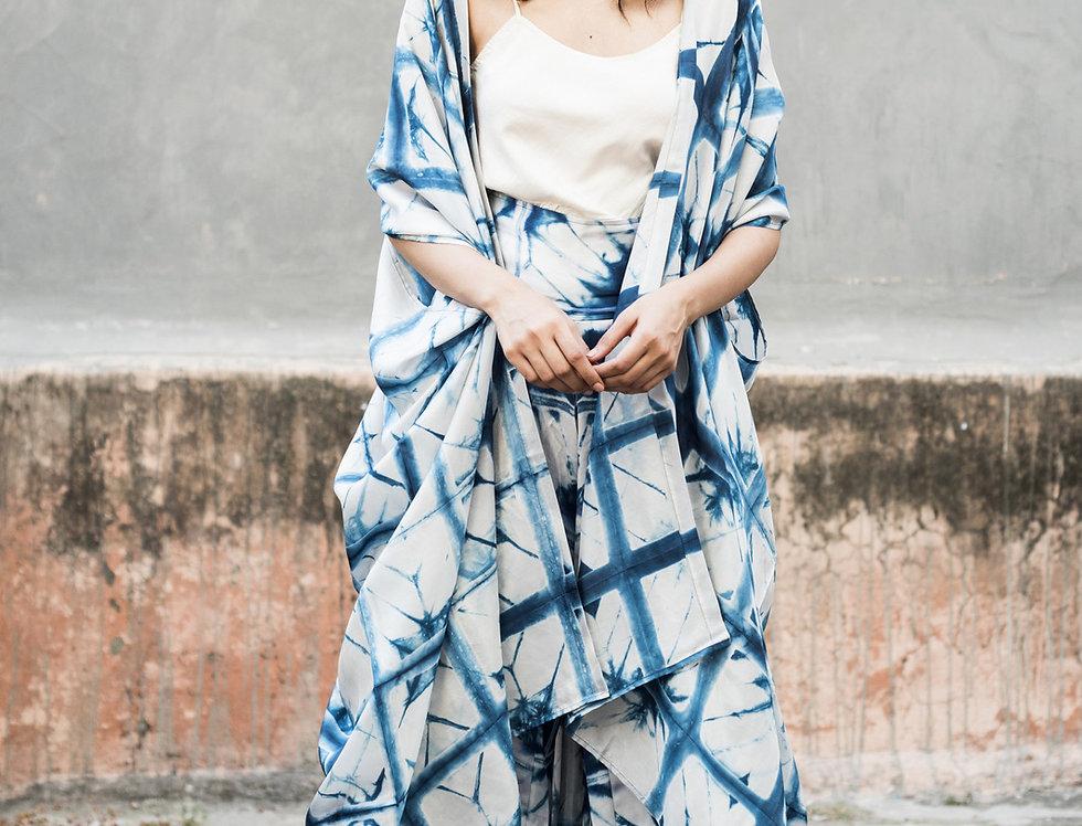 Itajime Silk Dune Robe | skafald