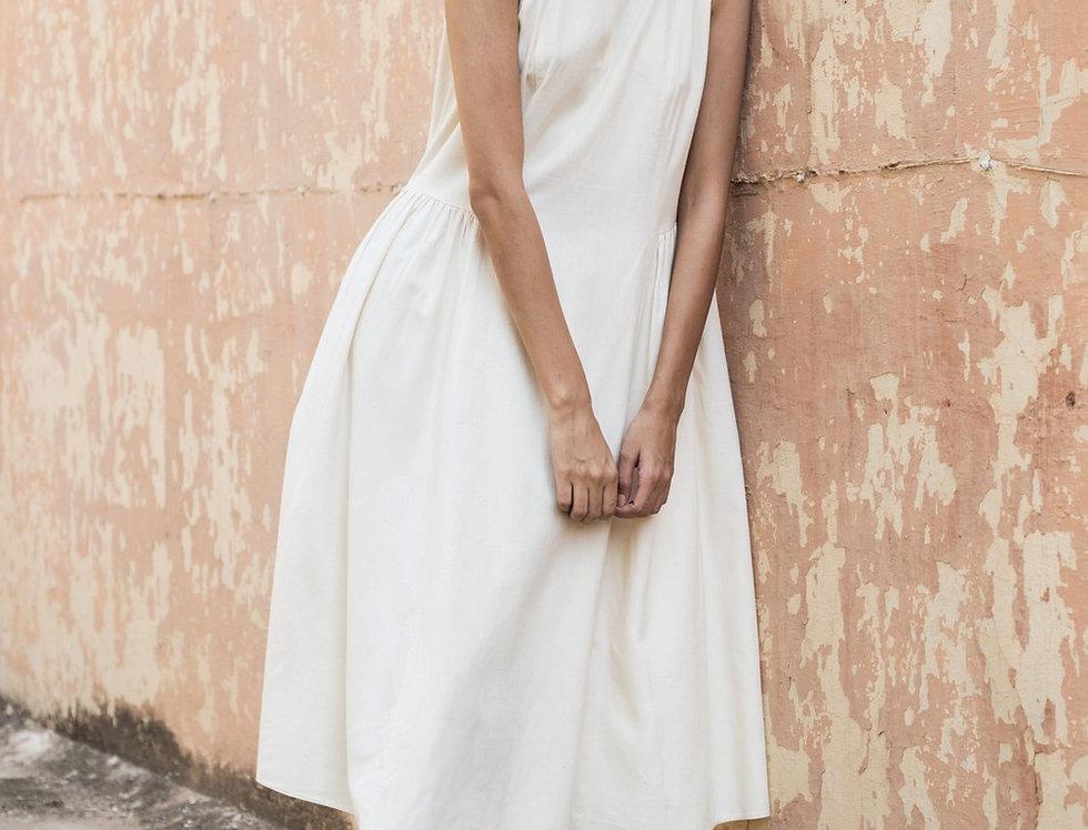 Eri Peace Silk Khiva Dress   ivory