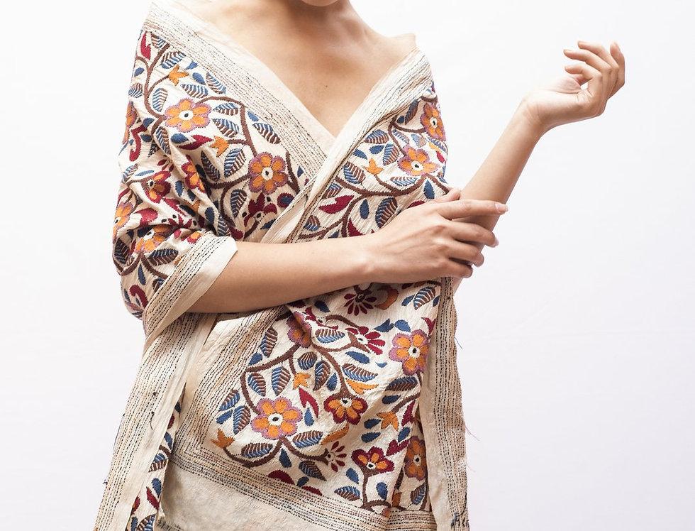 Nakshi Kantha Scarf | autumn bagh