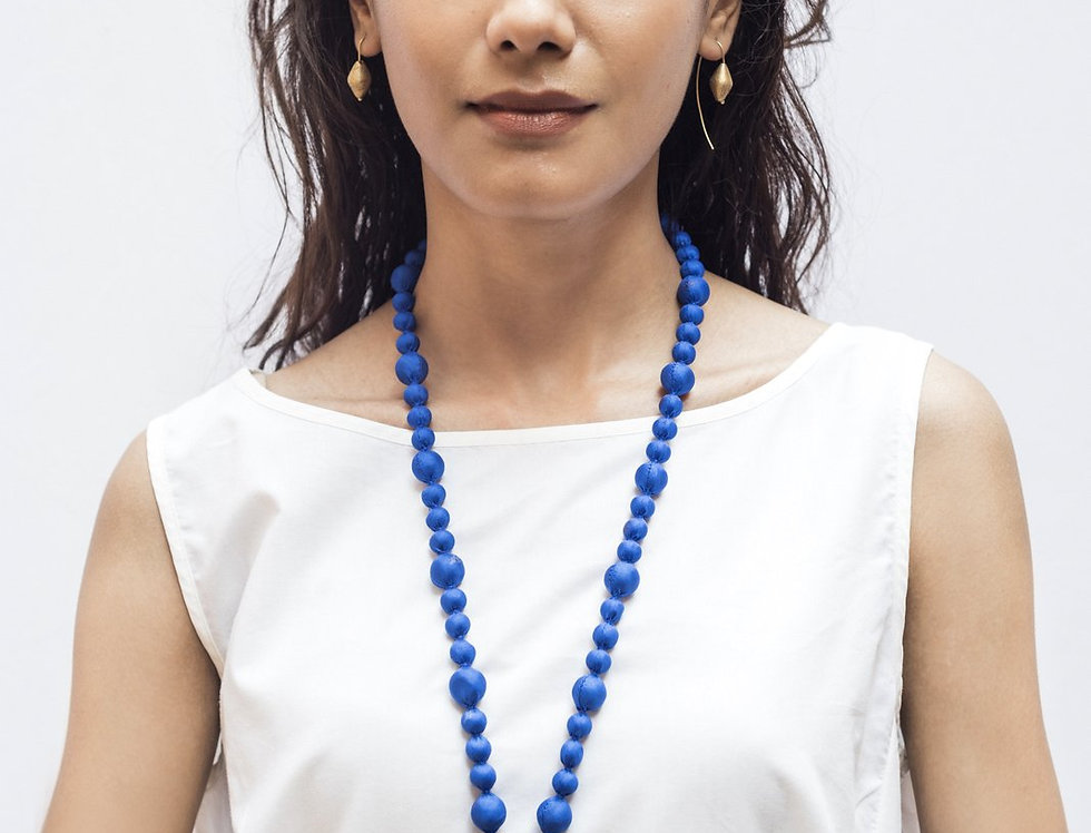 Sari Bead Necklace - jhumka | ultramarine