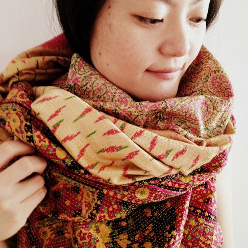 The Making of our Kantha Sari Scarves