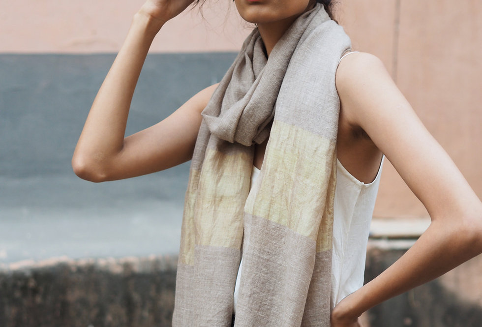 Pashmina Scarf | beige & gold