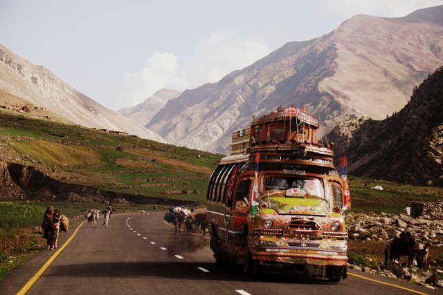 On the road to Besal through Kaghan Valley.