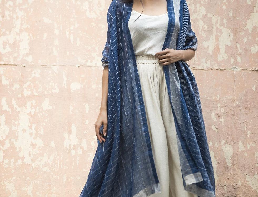 Lineya Linen Dune Robe | indigo & silver