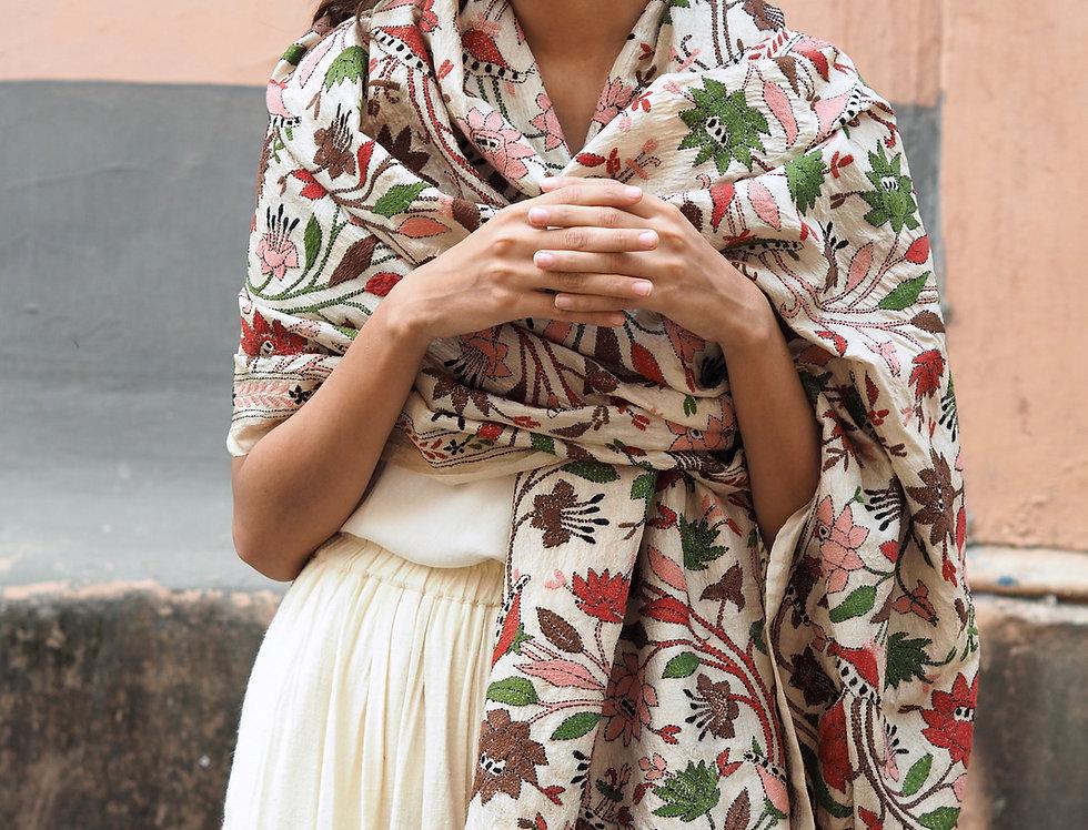Nakshi Kantha Wrap | autumn bagh I