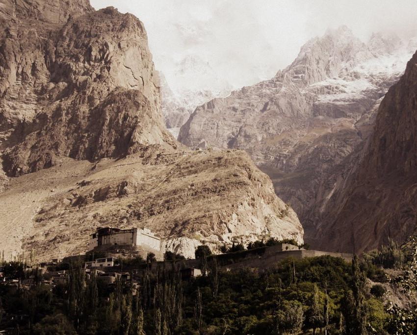 Baltit Fort and Ultar Peak.