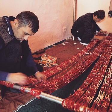 Uzbekistan ikat master weaver