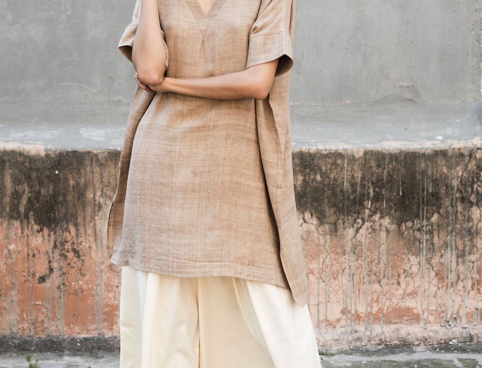 Mulberry Peace Silk Box Dress | walnut grey