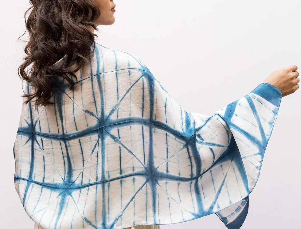 Itajime Silk Scarf | hjalm