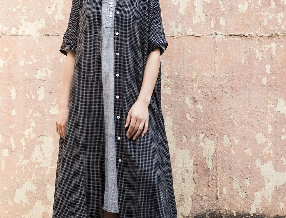 Artist Dress | black check