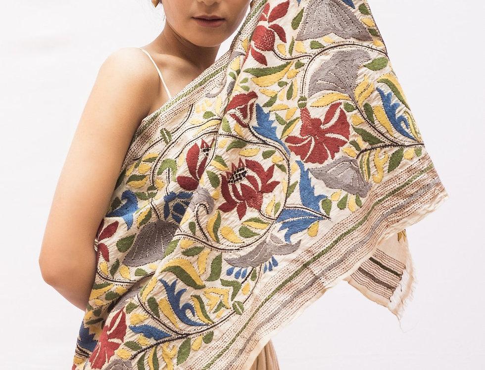 Nakshi Kantha Scarf | spring bagh