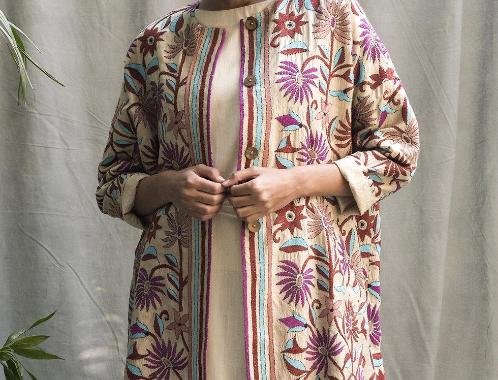 Nakshi Kantha Cocoon Coat   summer bagh
