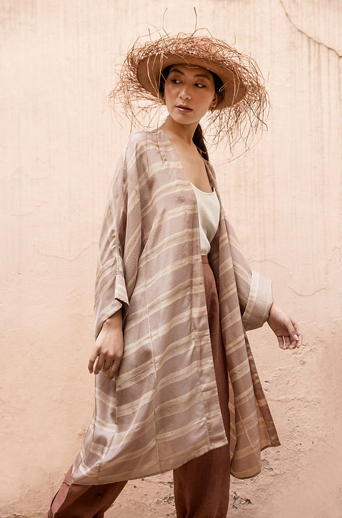 Itajime Silk Lounger | misty lilac