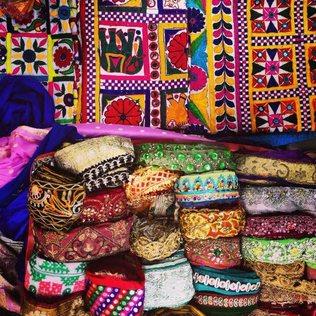 New Delhi vintage textile market