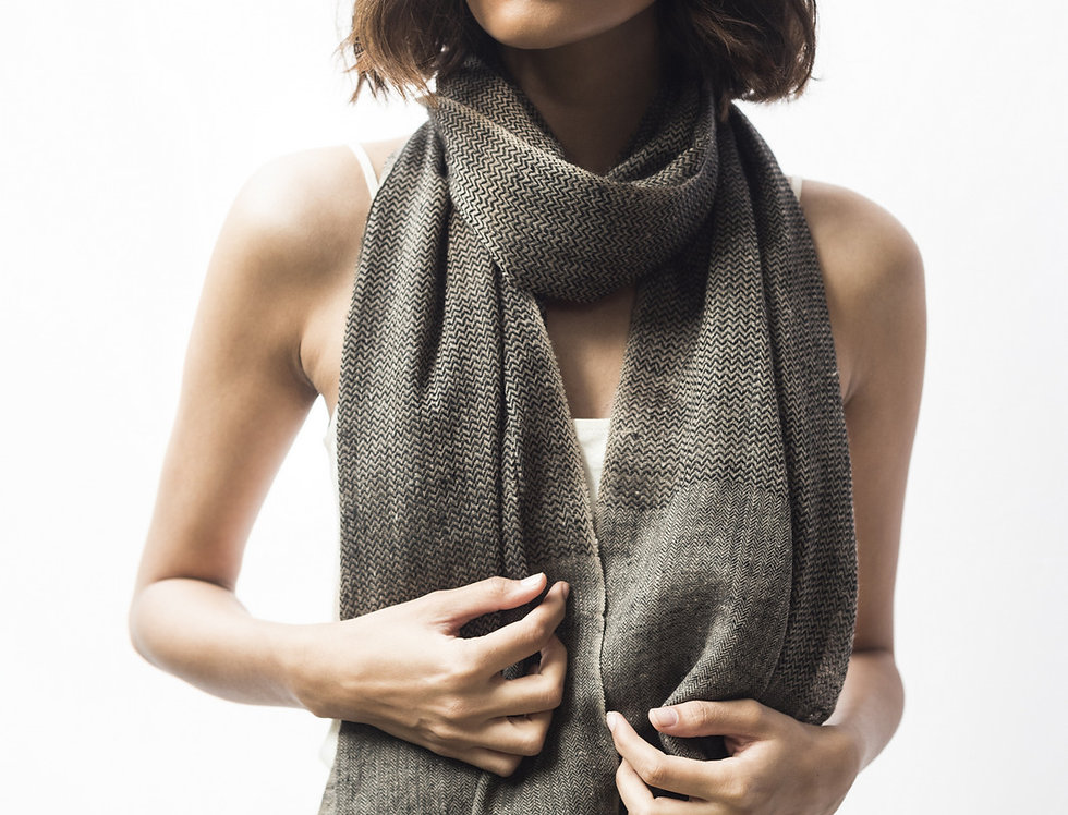 Pashmina Muffler | natural charcoal