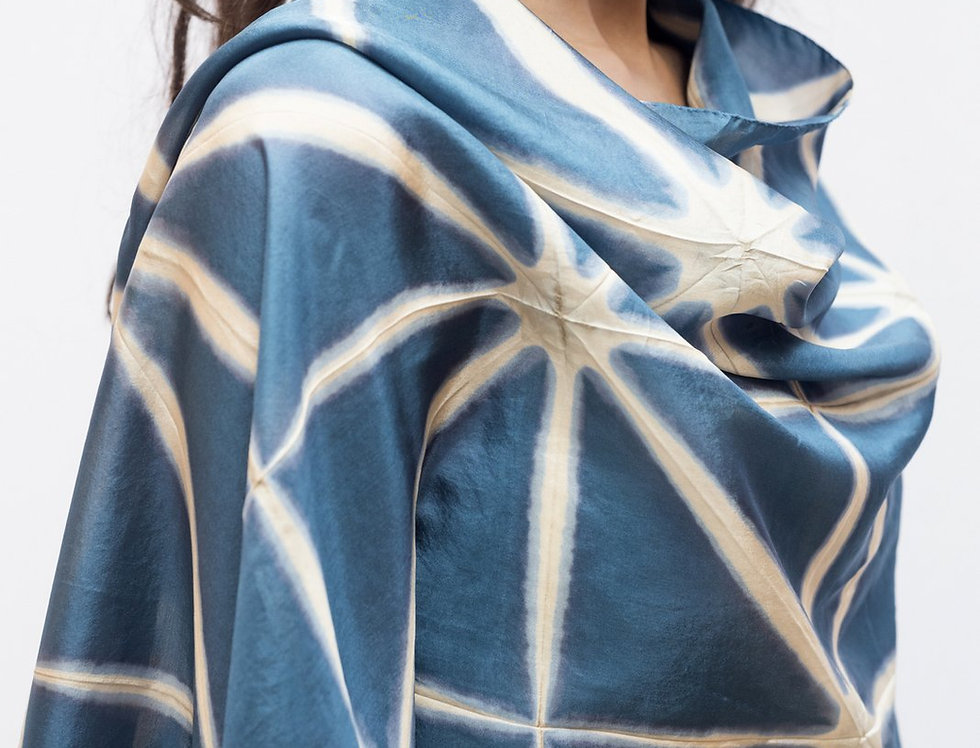 Itajime Silk Scarf | slate