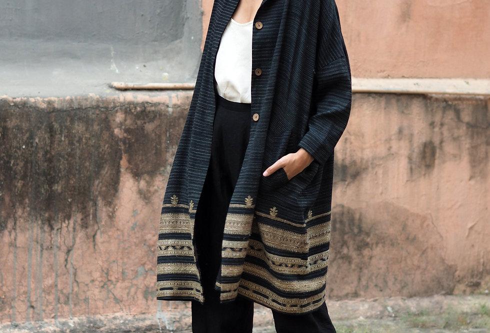 Vankar Cocoon Coat | wool & eri silk