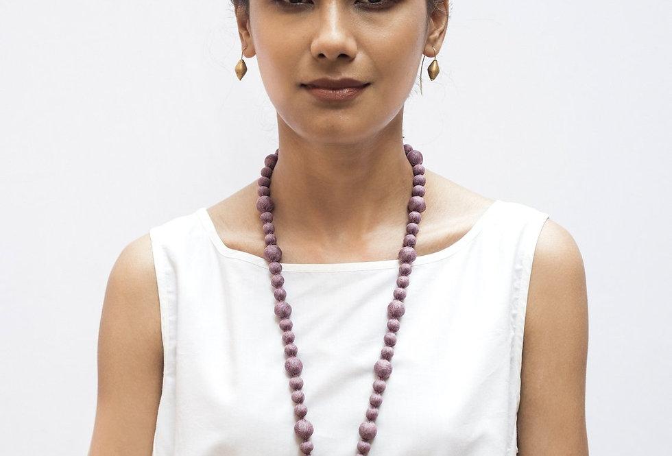 Sari Bead Necklace - jhumka | mulberry