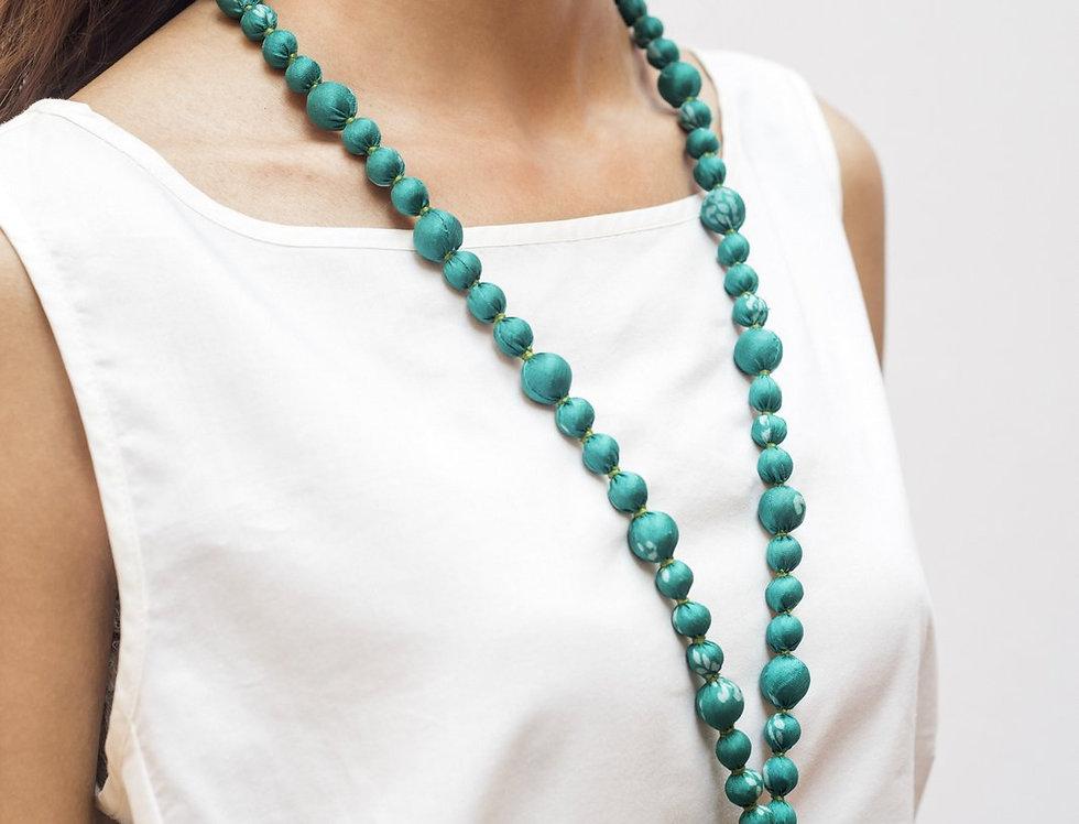Sari Bead Necklace - jhumka | mint