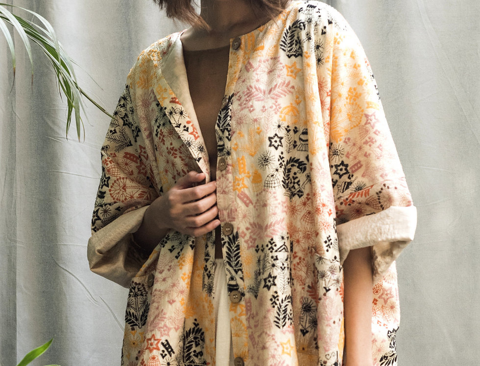 Nakshi Kantha Box Kimono | gaon