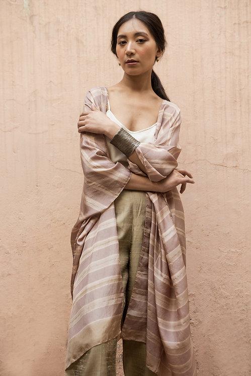 Itajime Silk Reza Robe | misty lilac