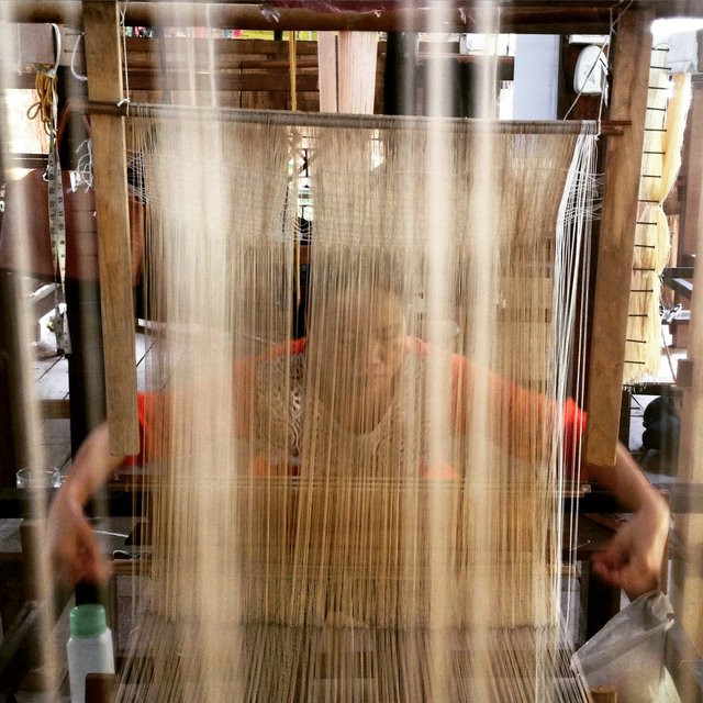 Weaving Lao ethical and authentic silk textiles