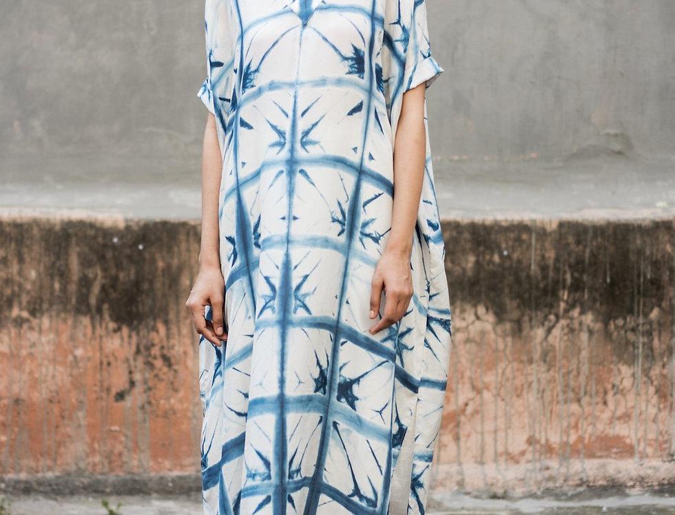 Itajime Silk Box Dress | skafald