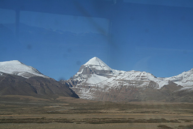 The first glimpse: Mt. Kailash