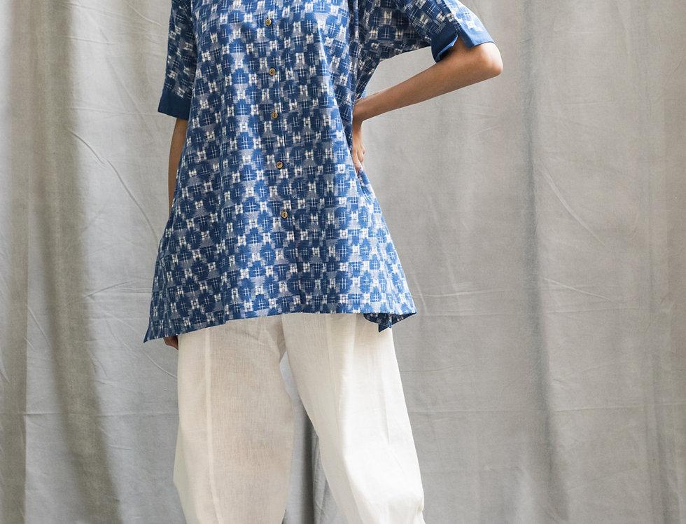 Kasuri Fjord Shirt | indigo
