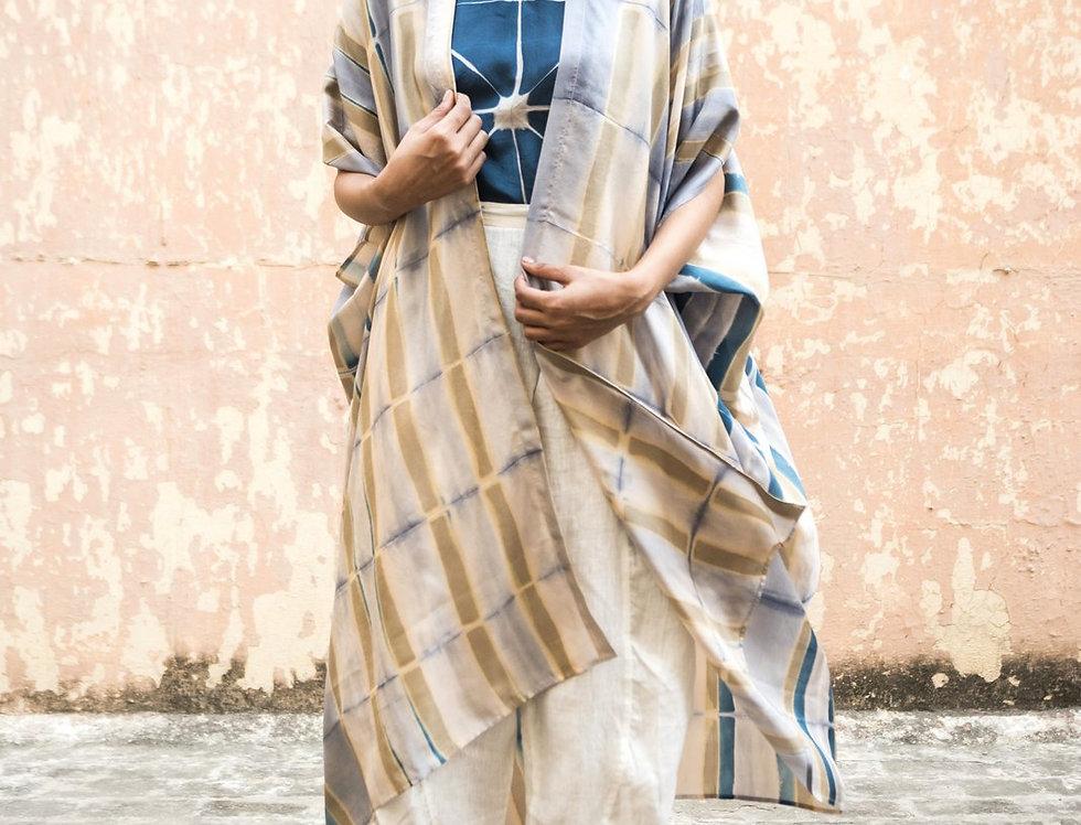 Itajime Silk Dune Robe | urkoma