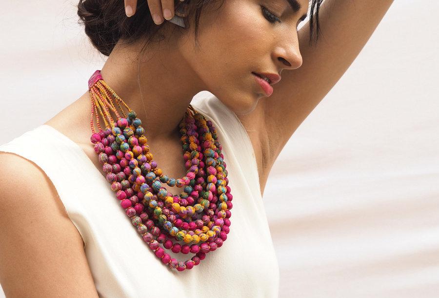 Sari Bead Necklace - 12 string | candy shop