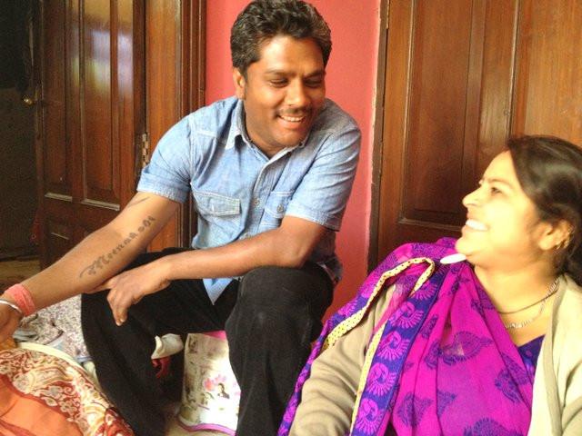 Sourcing vintage saris in New Delhi