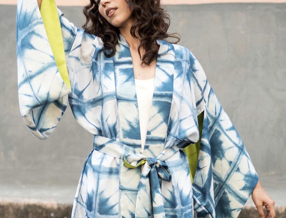 Itajime Silk Kimono | skafald
