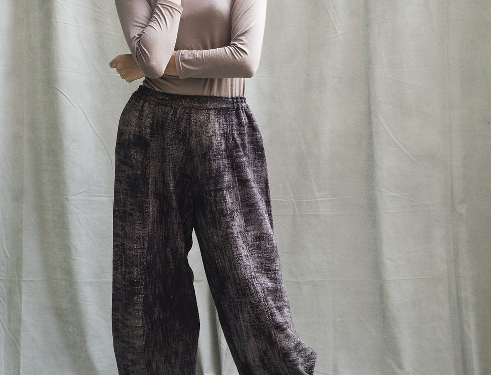 Obi Pants - heavy weight | brushed black natural dye