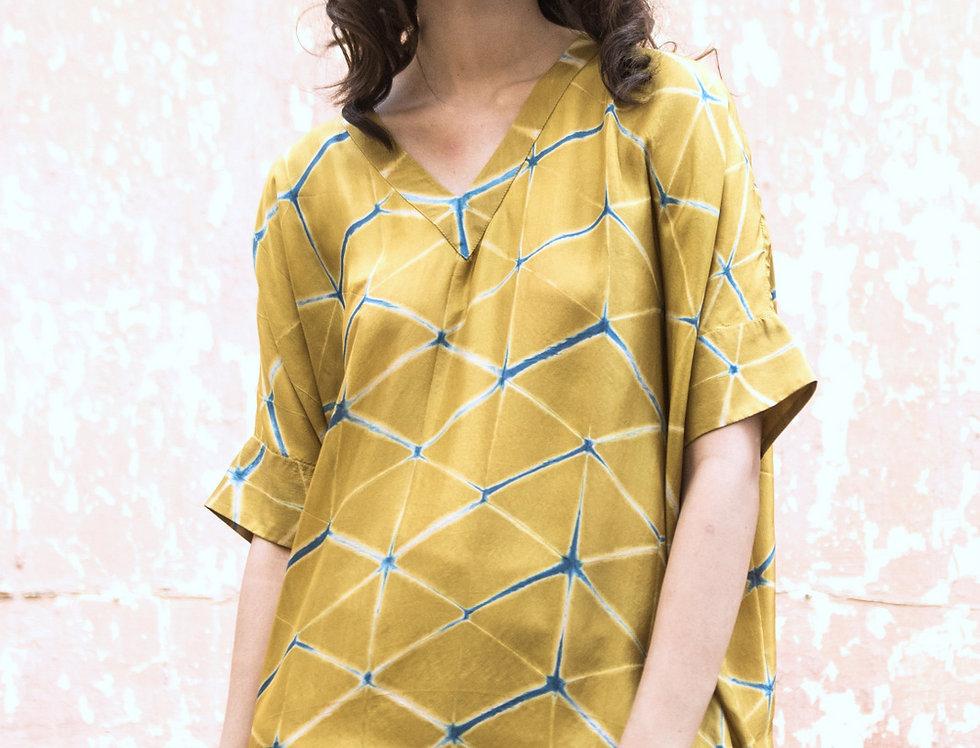 Itajime Silk Box Dress | gaddur