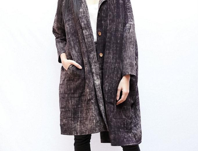 Cocoon Coat | brushed coal