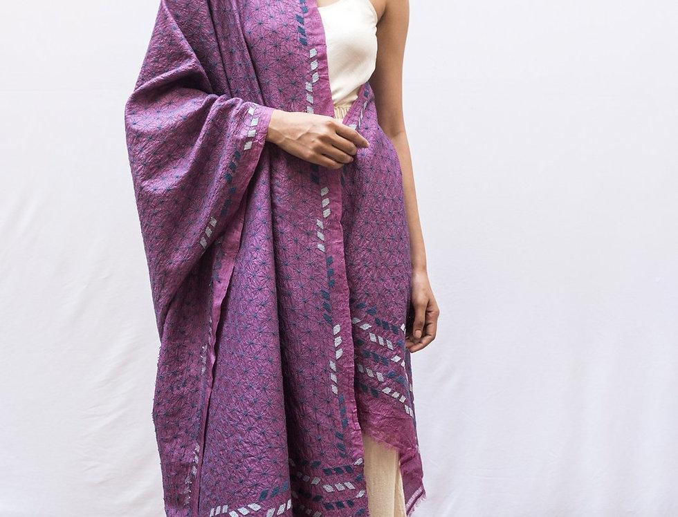 Nakshi Kantha Shawl   amethyst