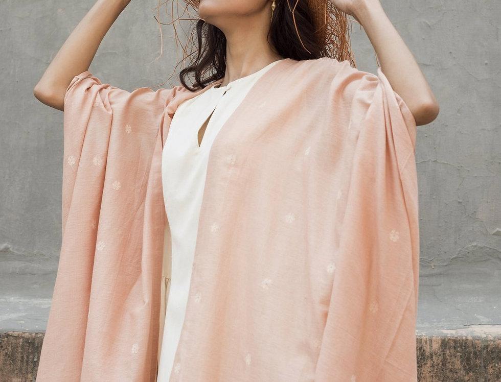 Dune Robe   jamdani blush