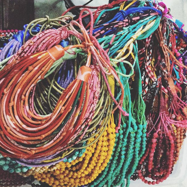 Sari Silk Necklaces hand made from up cycled vintage silk saris