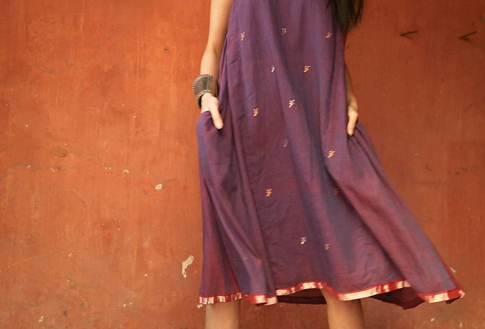 Marjim Dress | jamdani indigoXmadder