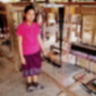 Lao silk weaver