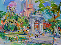Washington Square Outdoor Art Exhibit in New York City