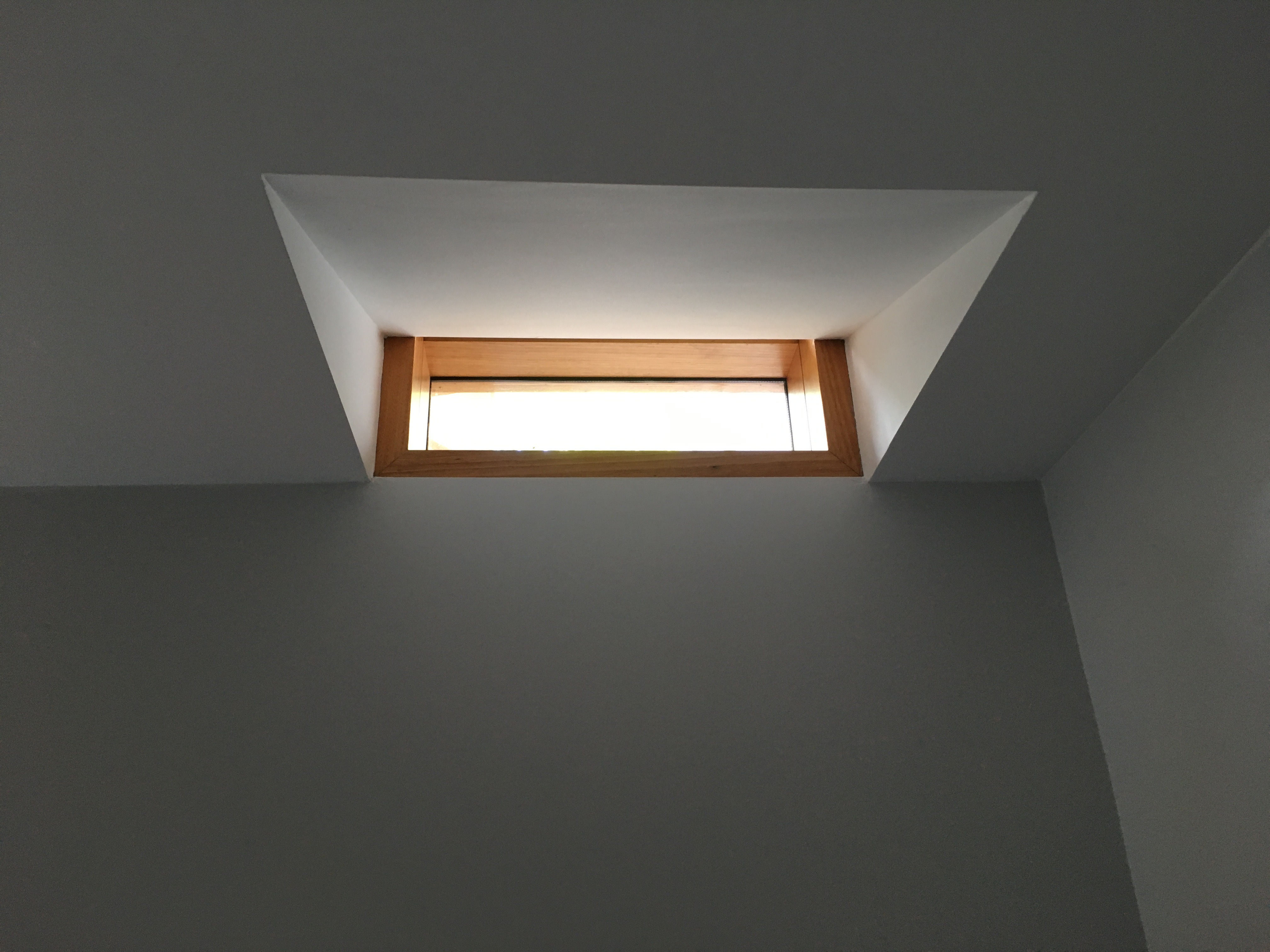 Downstair skylight in the ceiling